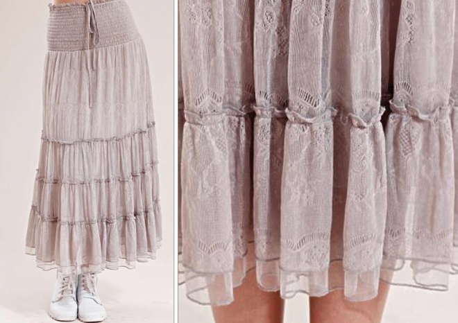 Lilou long skirt - Dimgrå - Provrummet