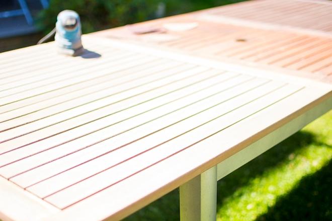 Trädgårdsbord_slipning