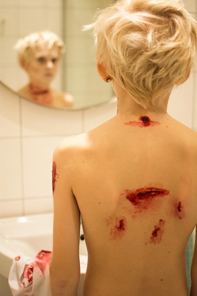 Halloween makeup - Blodiga sår