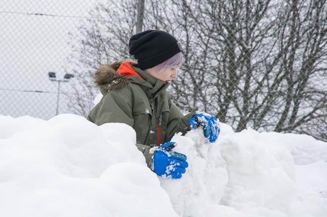 Max i snöhögen